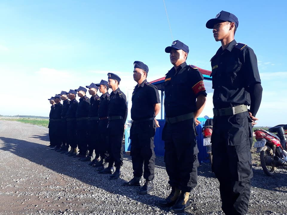 Thang Loi security guard company in Long An